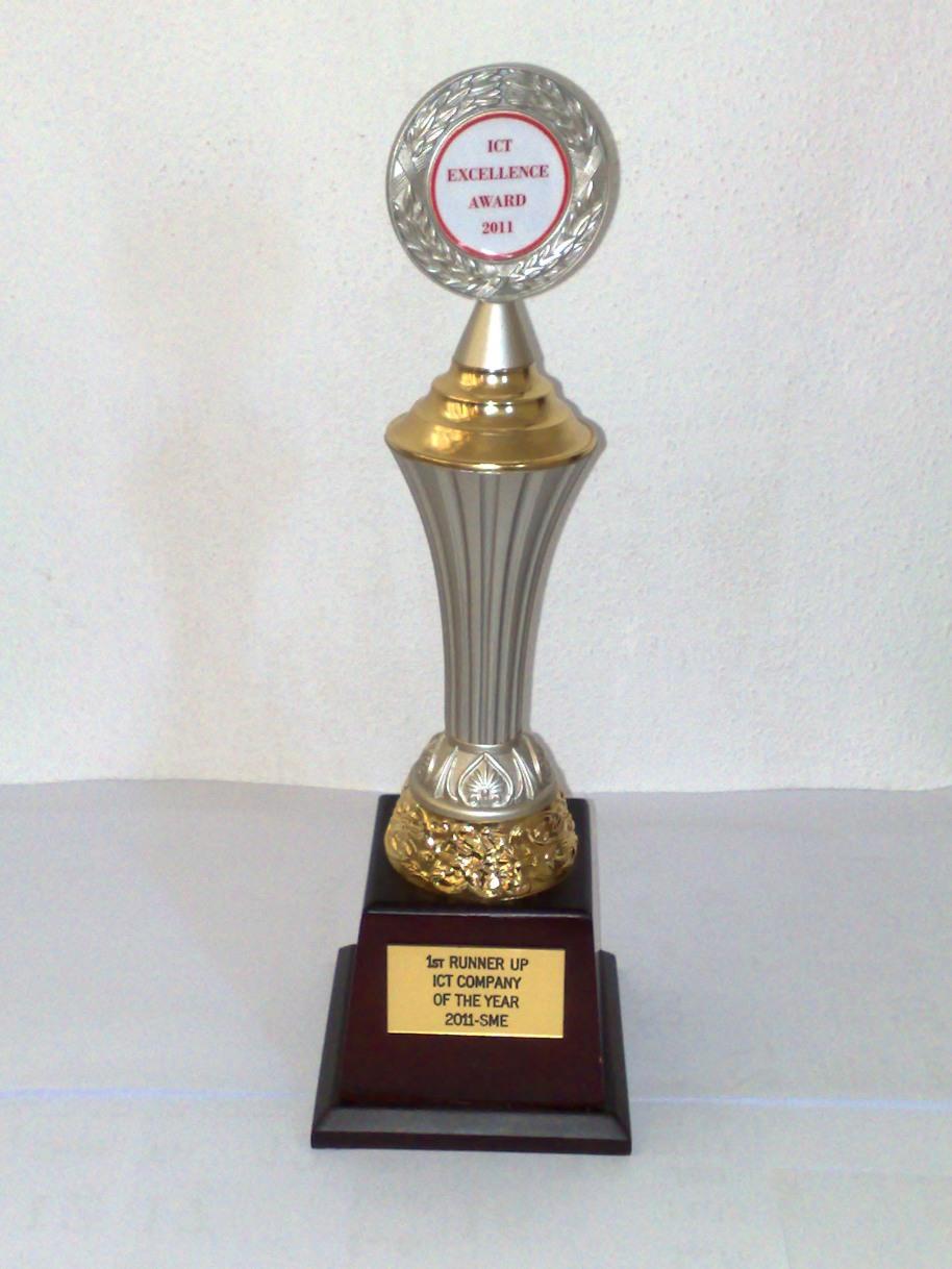 Log In ICT Award Trophy