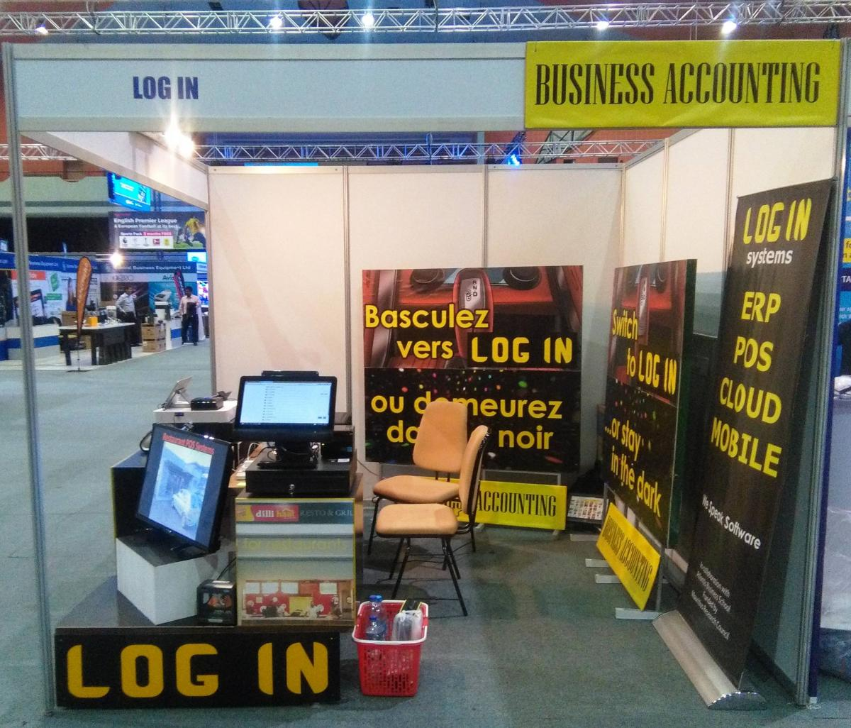 LOG IN's stand at Infotech 2018 where we showcased our POS Systems for businesses