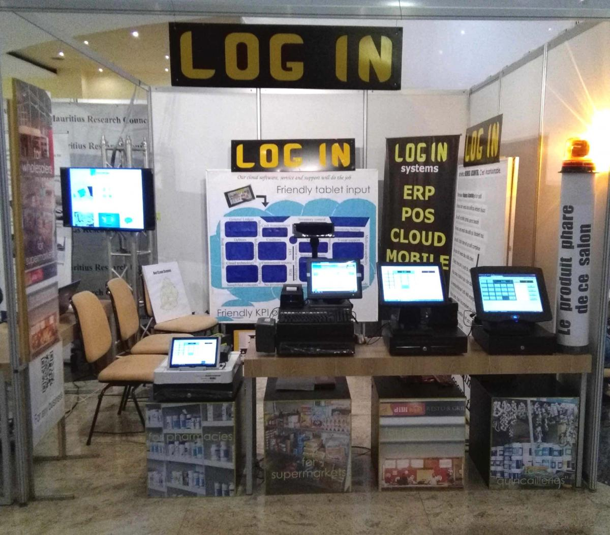 LOG IN's stand at Infotech 2017 where we had 4 POS Terminals on display